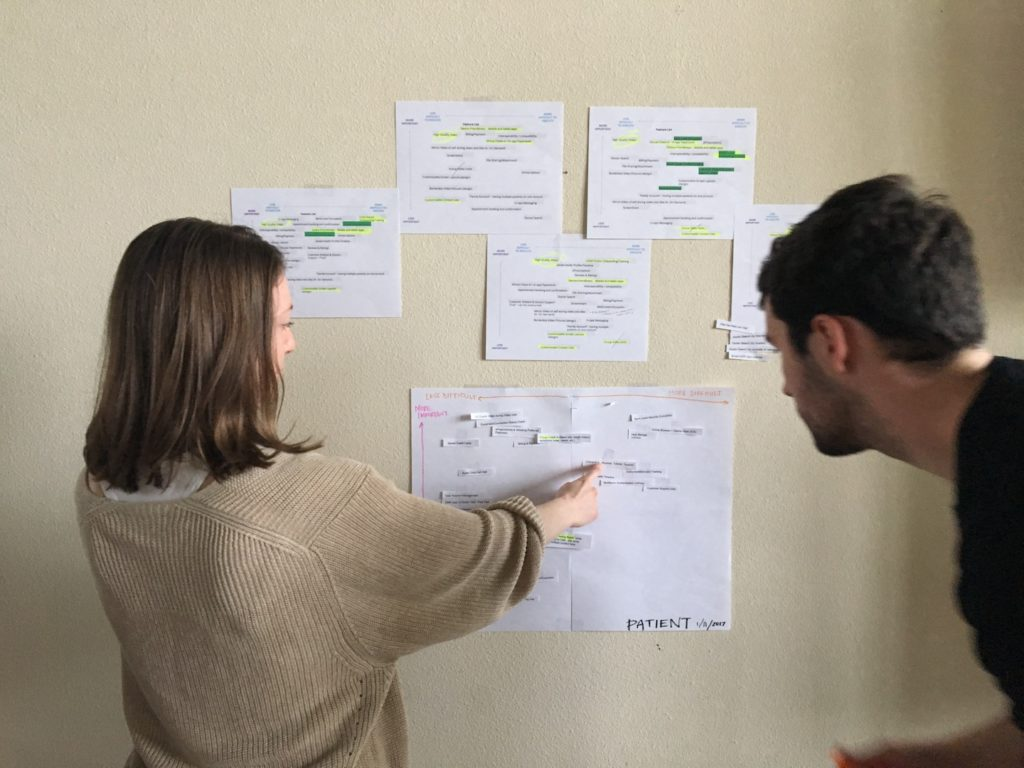Camilla Hermann, CEO and Robert Alvarez, Designer, working on the scope activity